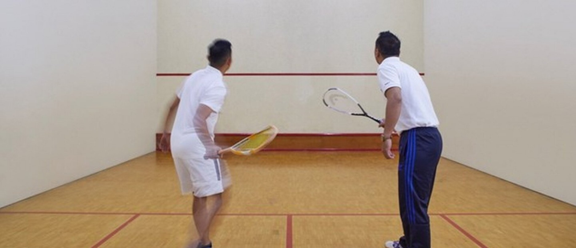 Indoor squash court